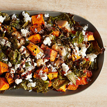 Roasted Kale and Butternut Squash